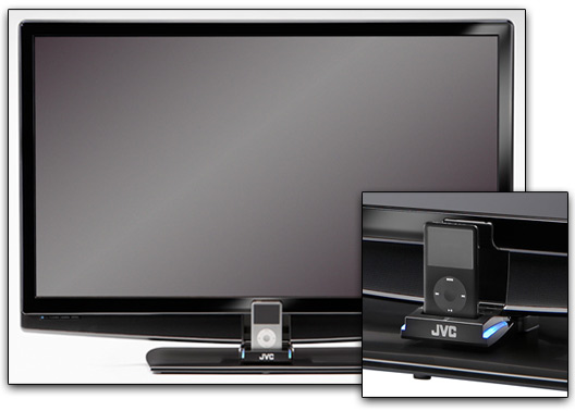 TV JVC para iPod