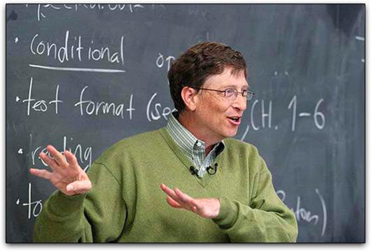 Bill Gates numa sala de aula