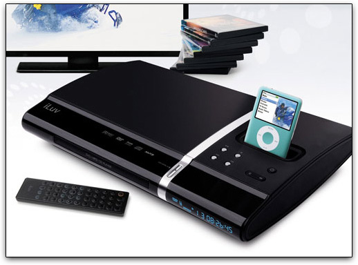 DVD Player com dock para iPod