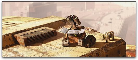 WALL-E se recarregando