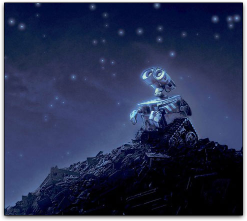 Wall-E no monte de lixo