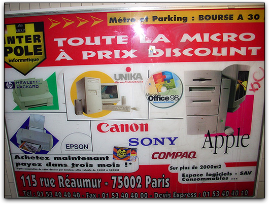 Mac-nostalgia em Paris