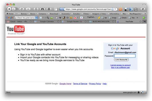 Integração YouTube + Google