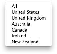 Países iTunes U