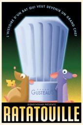 "Pôster retrô ""Ratatouille"""