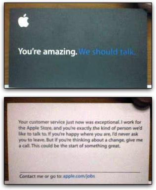 Cartão de recrutamento da Apple