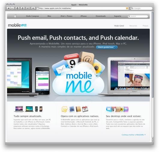 Apple Brasil: Mobile Me