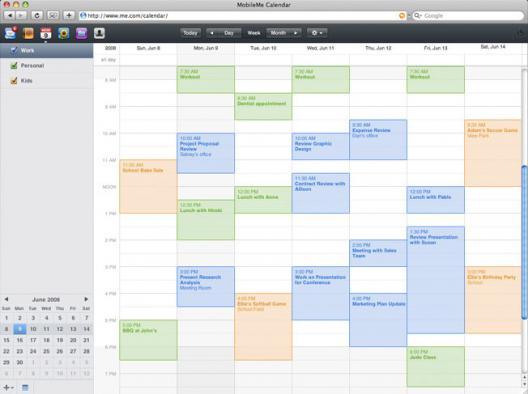 Mobile Me: Calendars