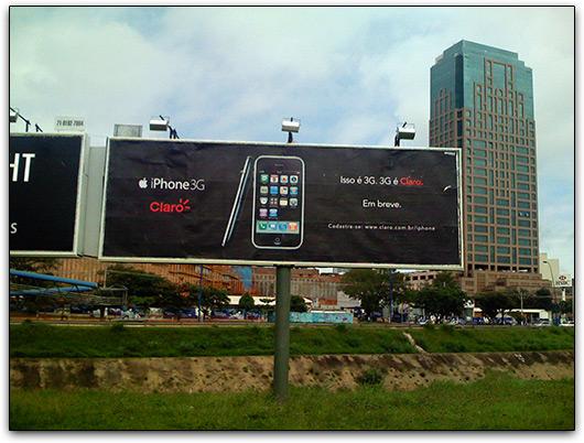 iPhone 3G em propaganda da Claro em Salvador
