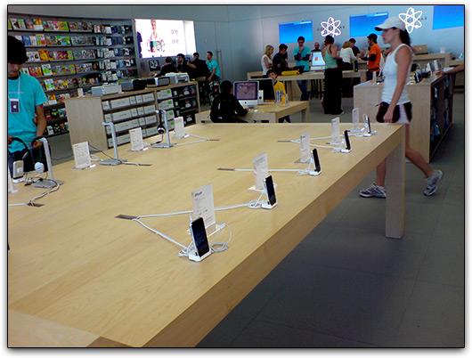 iPhones em Apple Retail Store