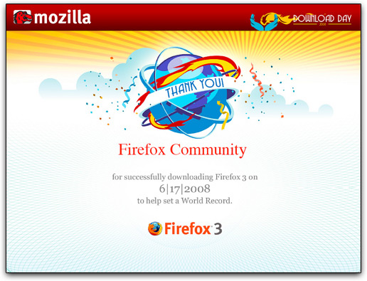 Firefox 3 no Guinness World Records
