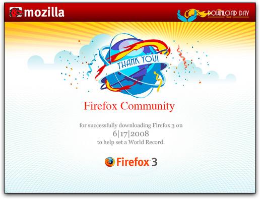 Firefox 3 no Guinness World Records