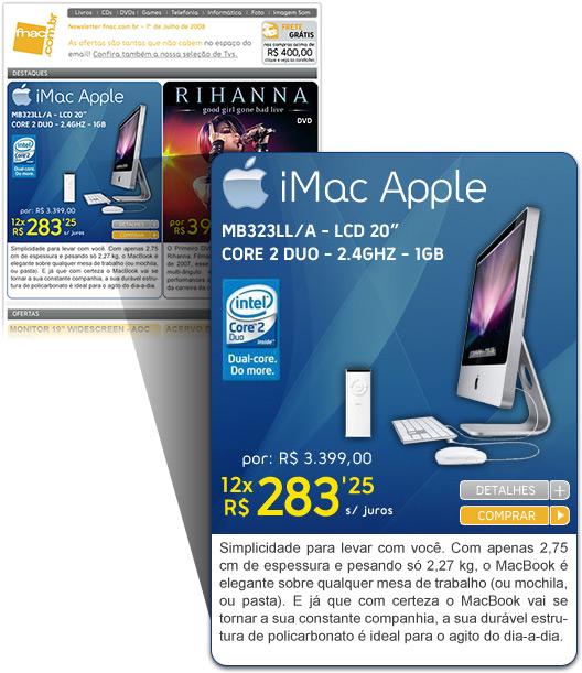 Anúncio de iMac errado da Fnac