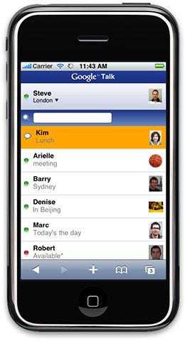 Google Talk no iPhone