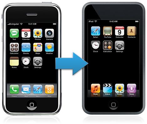 De iPhone para iPod touch