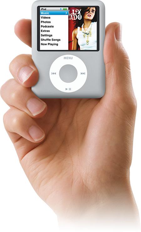 iPod nano na mão