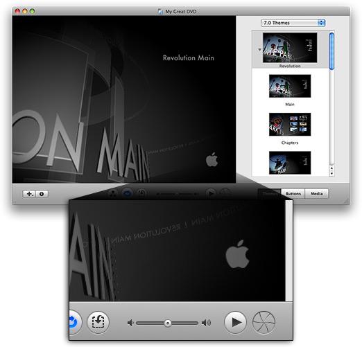 Projeto do iDVD com maçã da Apple