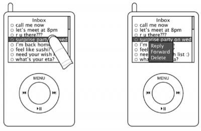 Desenho de patente da Apple para tecnologia multitouch