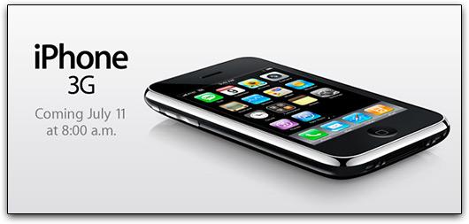 Hora de lançamento do iPhone 3G