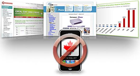 NÃO ao iPhone 3G pela Rogers no Canadá