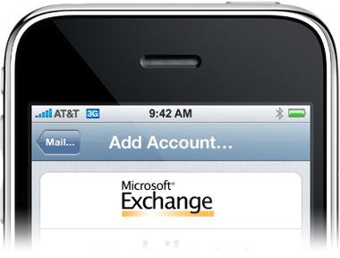 iPhone 3G no Exchange
