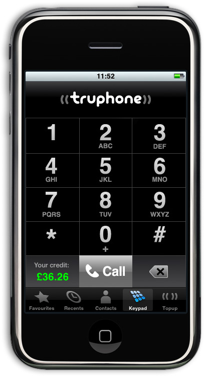 Truphone no iPhone