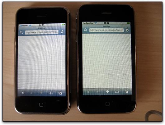 iPhones 3G com telas amarelas?