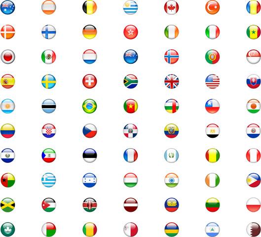 Bandeiras dos países do iPhone 3G