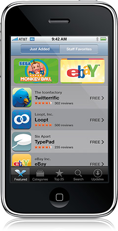 iPhone 3G na App Store