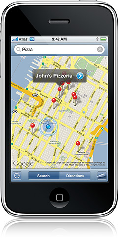 iPhone 3G no Maps