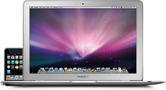 MacBook Air com iPod touch