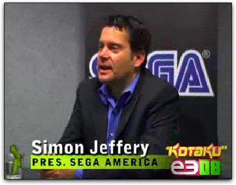 Simon Jeffery, presidente da Sega America