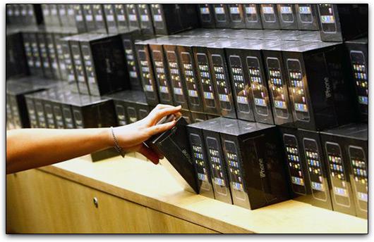 Caixas de iPhones