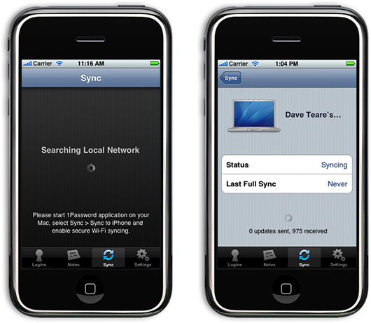 1Password para iPhones e iPods touch