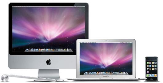 Keyboard, iMac, MacBook Air e iPhone