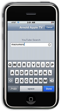 Teclado Apple TV via Remote