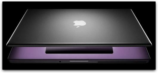 Mock-up do MacBook Pro com trackpad de vidro