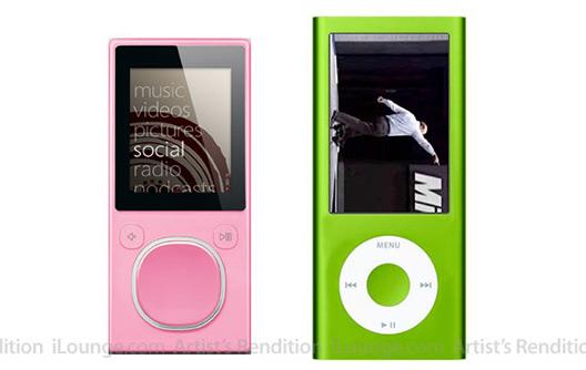 Mock-up horrível dos novos iPods nano criado pelo iLounge