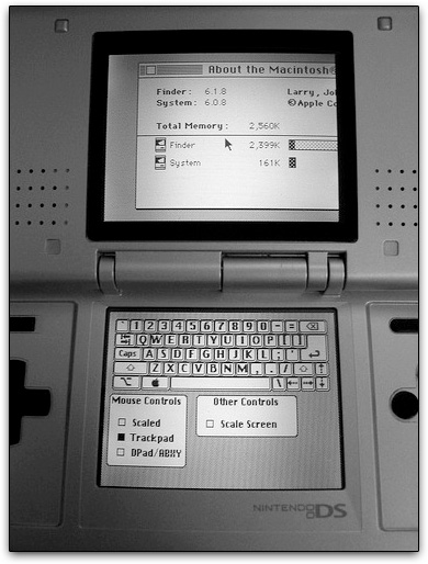 Macintosh 6 on Nintendo DS