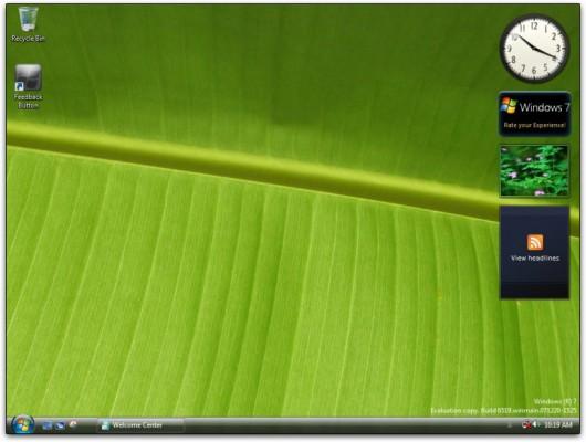 Screen-shot do Windows 7 Milestone 1 Build 6519