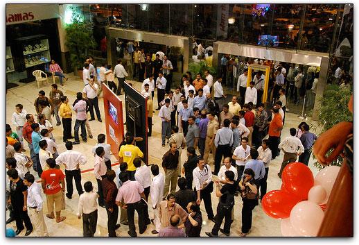 Público que compareceu ao lançamento da Airtel