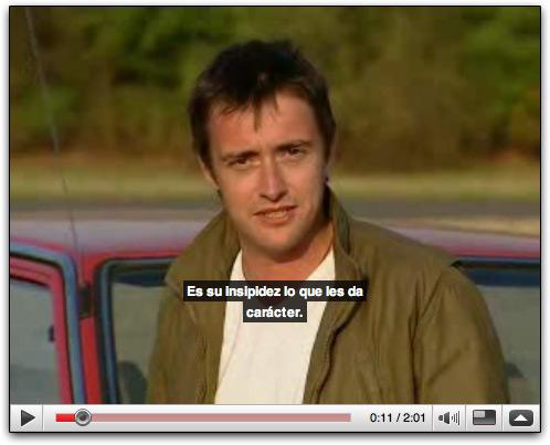Exemplo de vídeo do YouTube com legenda em espanhol