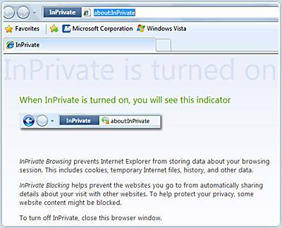 InPrivate do Internet Explorer 8