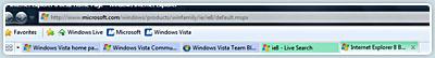 Abas coloridas no Internet Explorer 8