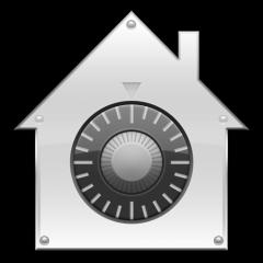 Ícone do painel Segurança no System Preferences do Mac OS X