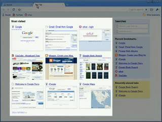 Atalhos na homepage do Google Chrome