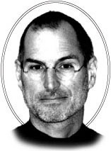 Steve Jobs (preto e branco)