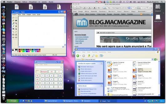 Sun xVM VirtualBox com modo Seamless ativado