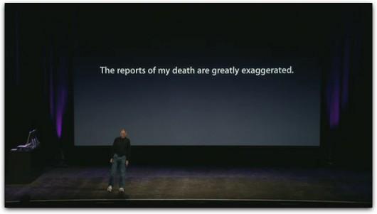 Mensagem de Steve Jobs