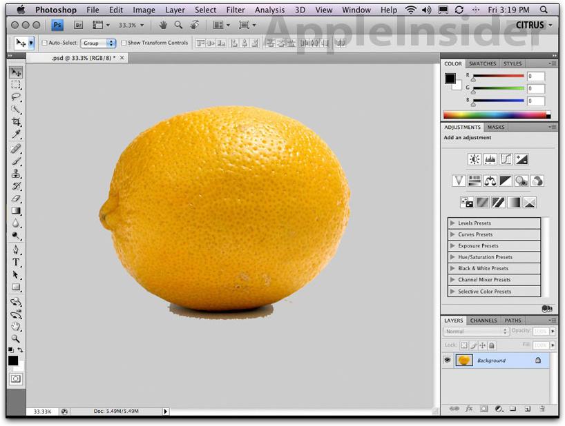 Adobe Photoshop CS4: clique para ampliar